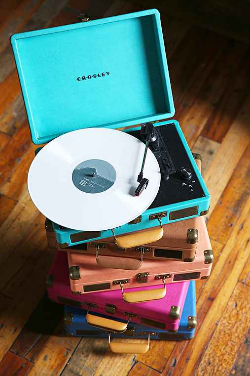 Crosley X UO Cruiser Briefcase Portable Vinyl Record Player,TURQUOISE,ONE SIZE