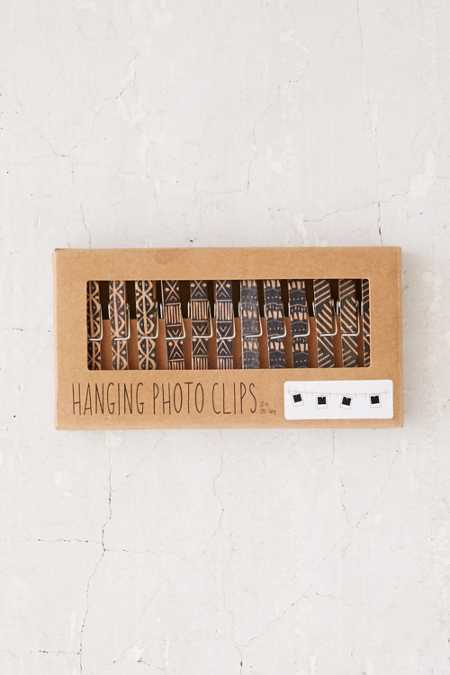 Clothespin Photo Clips String Set