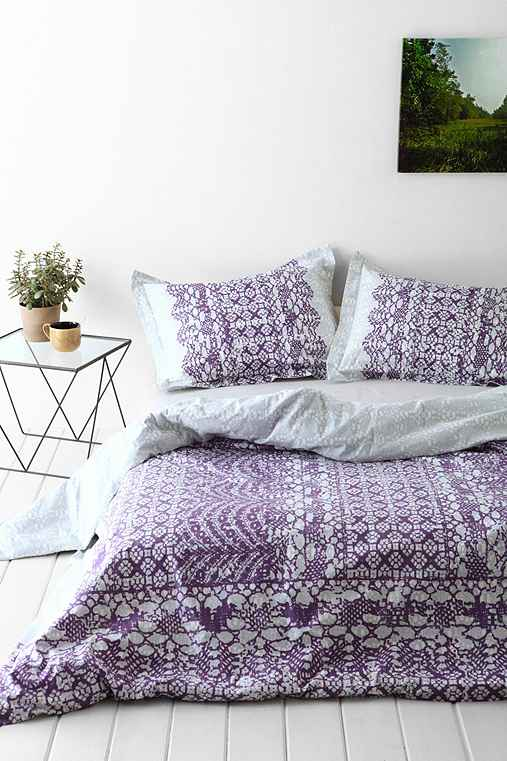 Plum Amp Bow Sophie Lace Duvet Cover Urban Outfitters