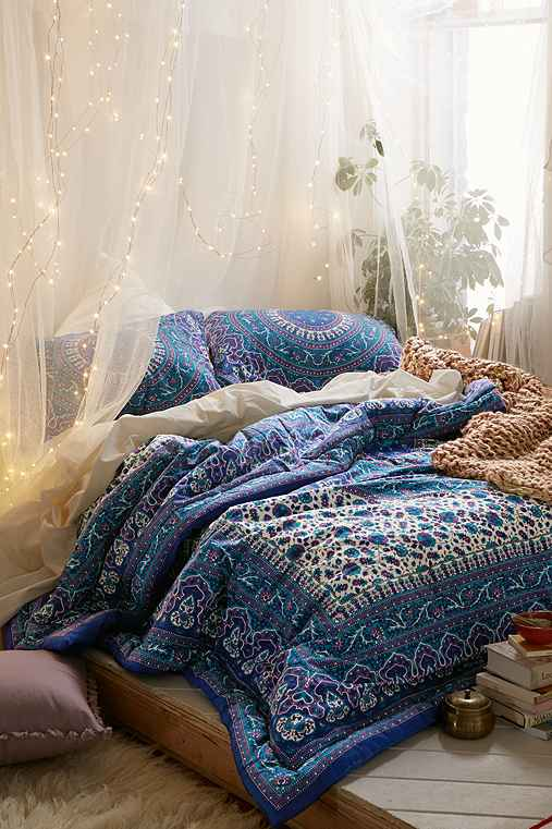 Indoor string lights for bedroom - Magical Thinking Ophelia Medallion Comforter Urban Outfitters On The