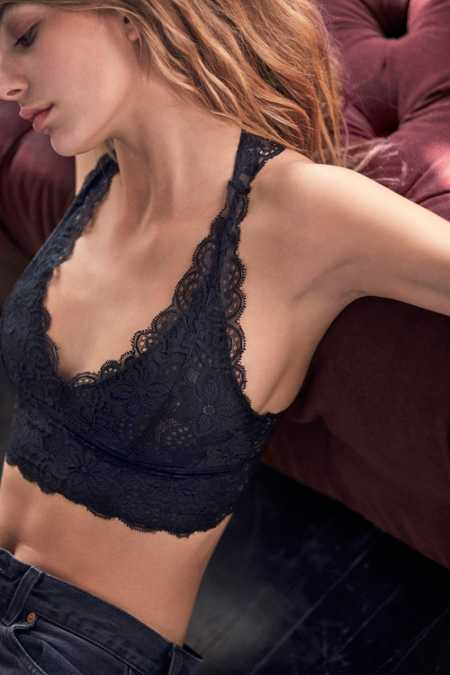 Out From Under Allover Scallop Lace Racerback Bralette