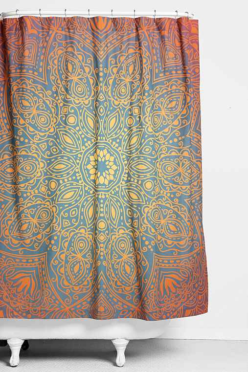 Magical Thinking Glow Medallion Shower Curtain