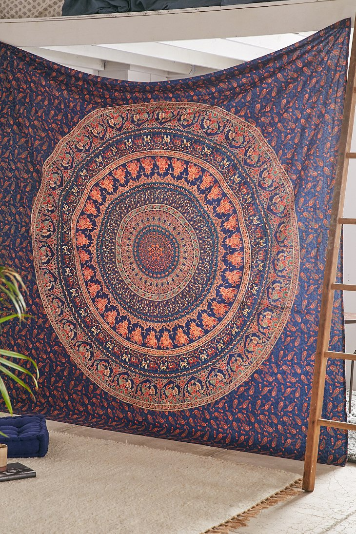 hippie tapestries ombre mandala wall multi hangings medallion indian bedding blue tapestry collection