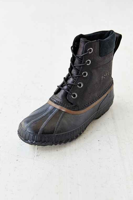 Sorel Suede Duck Boot,BLACK,9.5