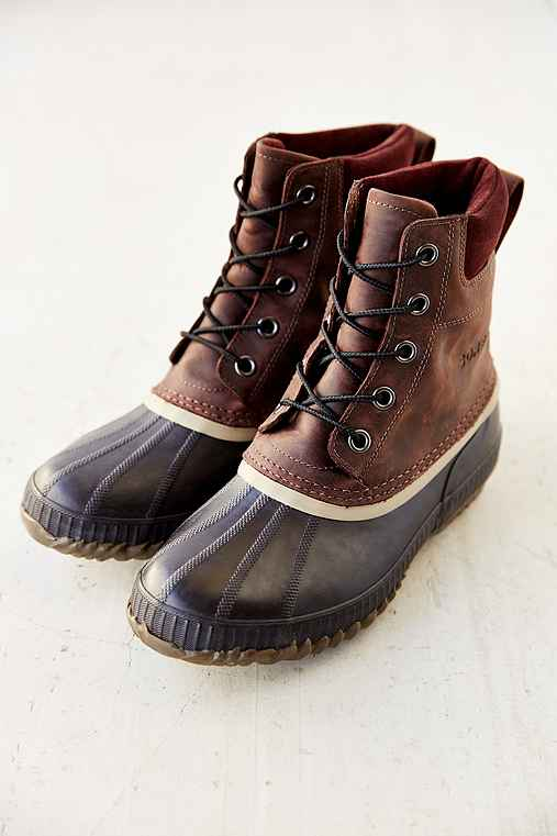 Sorel Suede Duck Boot,BROWN,9