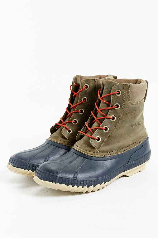 Sorel Suede Duck Boot,OLIVE,10