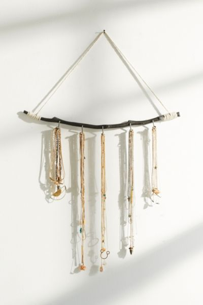 hanging branch jewelry stand