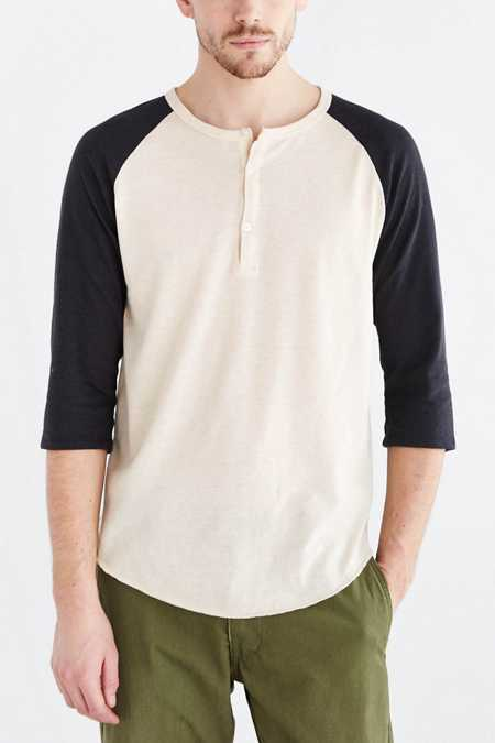 ALTERNATIVE Shirttail Henley Tee