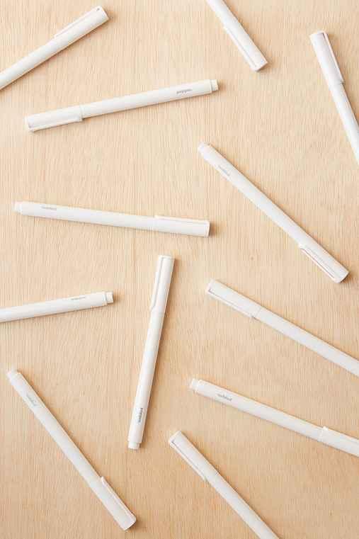 Poppin Ballpoint Pen Set,WHITE,ONE SIZE