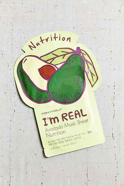 TONYMOLY I'm Real Mask Sheet,AVOCADO,ONE SIZE