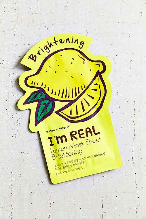 Lemon mask sheet