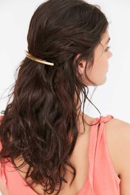 Curved Metal Barrette