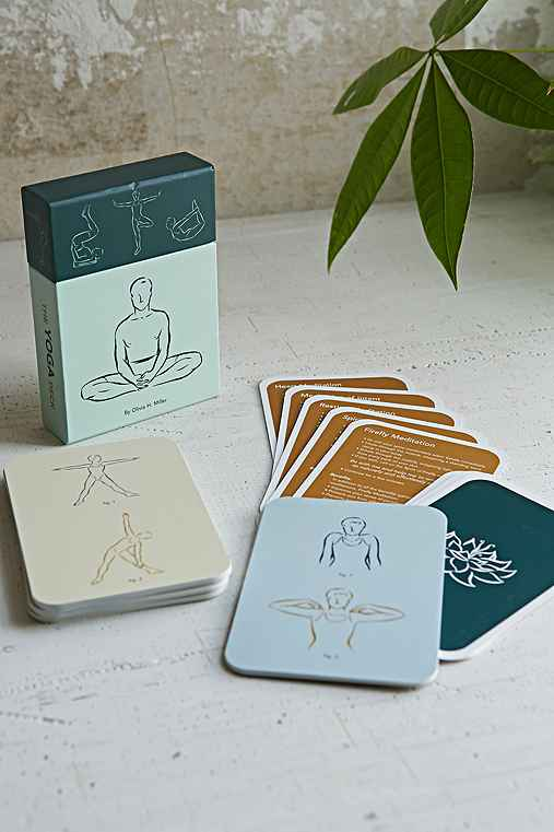 Yoga Positions Card Set,BLUE,ONE SIZE