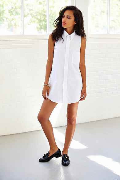 Urban Renewal Remade Sleeveless Oxford Shirtdress