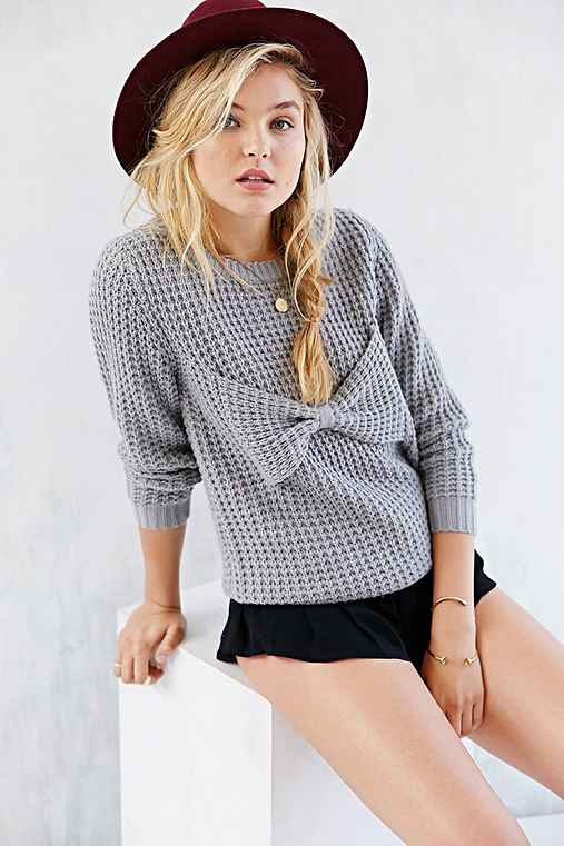 Compania Fantastica Bow Crewneck Sweater