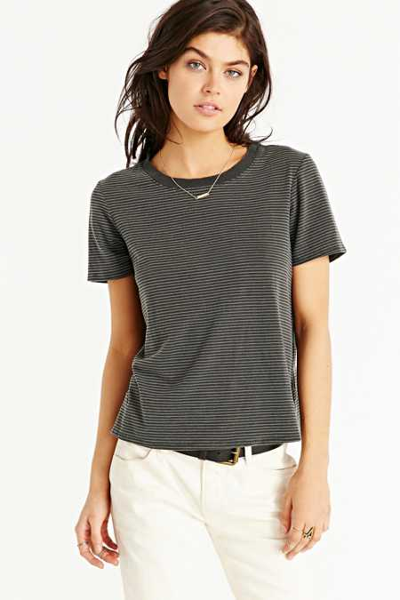 Truly Madly Deeply Striped Boyfriend Ringer Tee