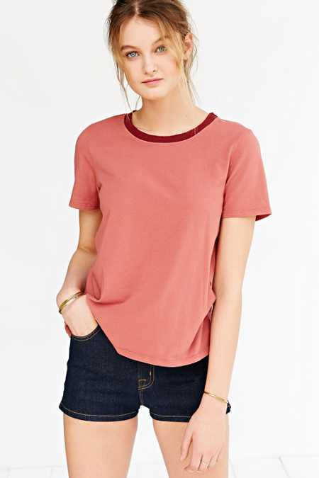 Truly Madly Deeply Classic Boyfriend Ringer Tee