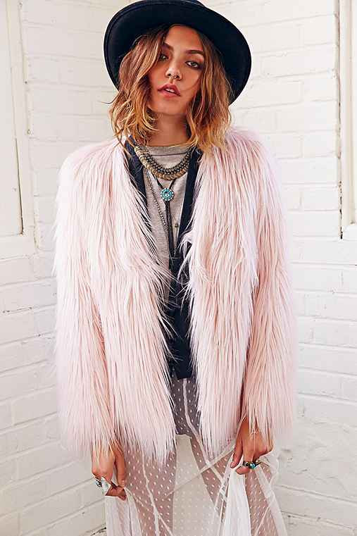 Ladakh X UO Margot Faux Fur Jacket - Urban Outfitters