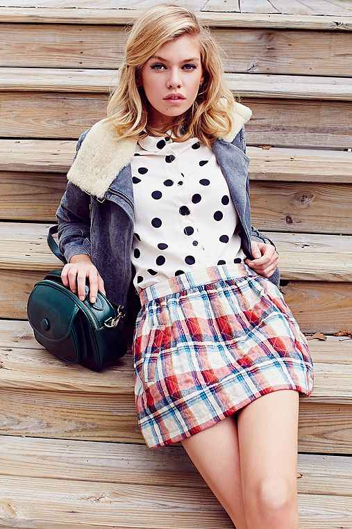 RYDER Quilted Flannel Mini Skirt