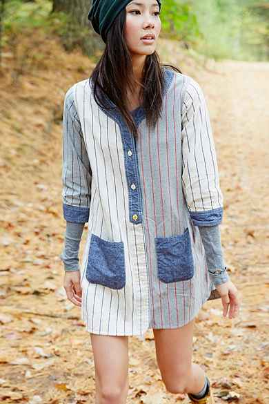 Manastash Baseball Shirt Dress