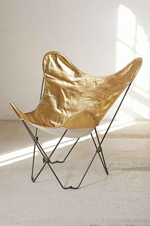 Gold Butterfly Chair Cover,GOLD,ONE SIZE