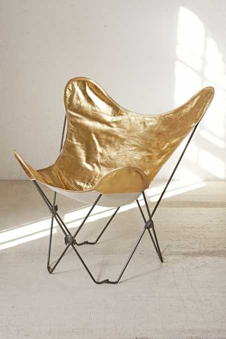 Gold Butterfly Chair Cover
