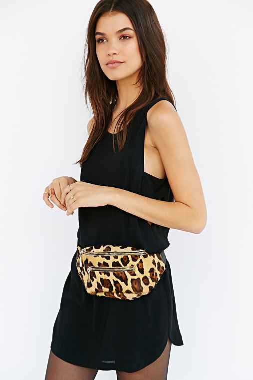Shakuhachi Leopard Belt Bag
