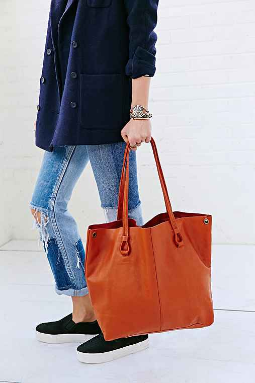 BDG Worn Leather Tote Bag