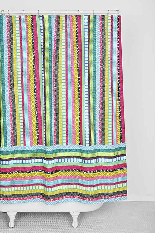 Kooky Stripe Shower Curtain
