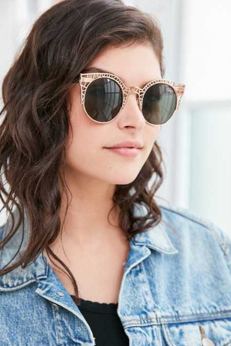 Quay Fleur Round Cat-Eye Sunglasses