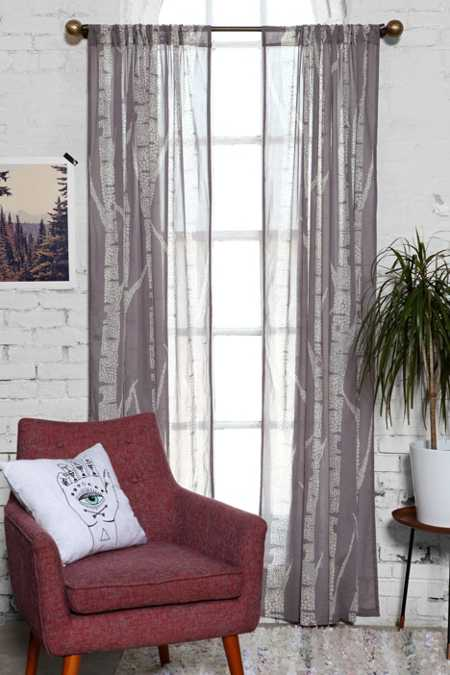 Assembly Home Birch Trees Curtain