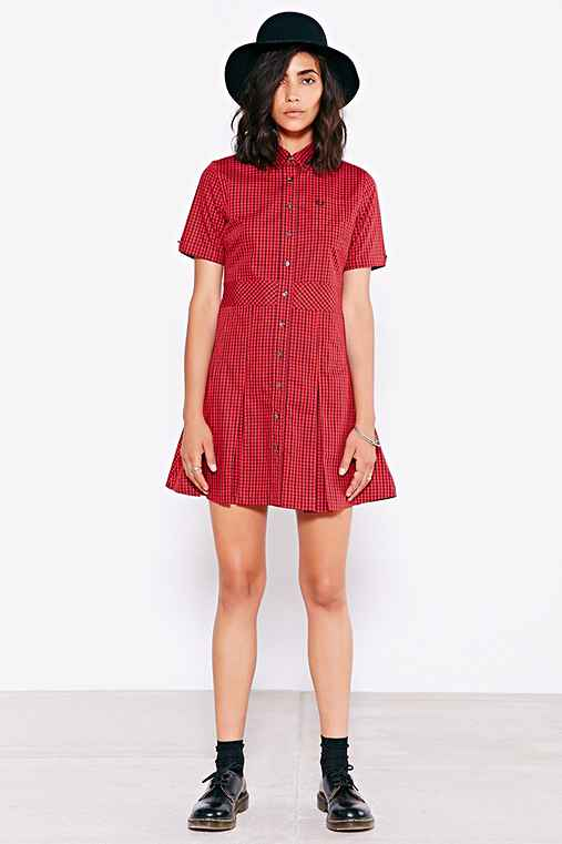 Fred Perry Gingham Check Shirtdress