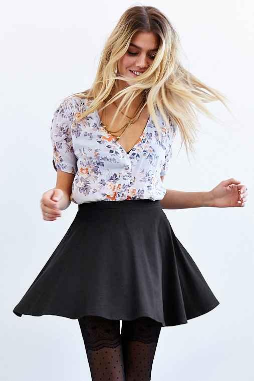 Kimchi Blue Knit Circle Skirt