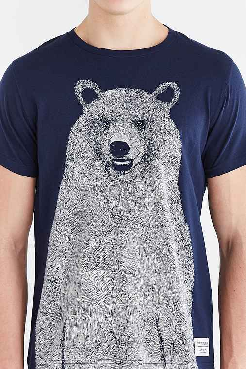 Supremebeing Mont Bear Tee,NAVY,S