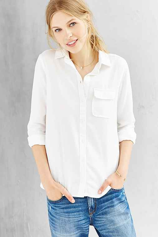 bdg classic white oxford button down shirt urban outfitters