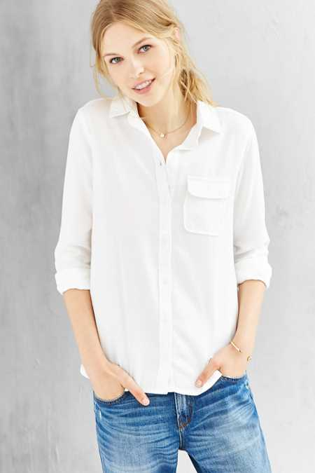 BDG Classic White Oxford Button-Down Shirt
