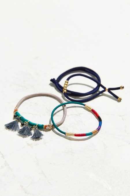 Raw Gem Ponytail Holder Set