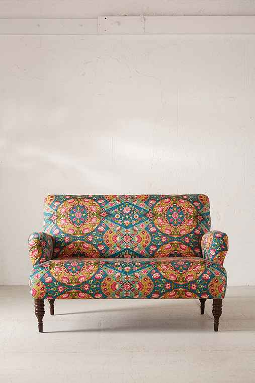 Nicola Loveseat,BLUE MULTI,ONE SIZE
