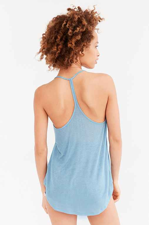 Silence + Noise Lina Racerback Tank Top,PERIWINKLE,XS