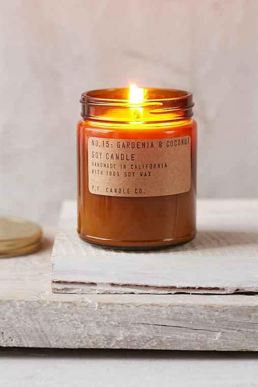 PF Candle Co. Amber Jar Soy Candle,GARDENIA COCONUT,ONE SIZE