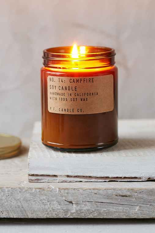 PF Candle Co. Amber Jar Soy Candle,CAMPFIRE,ONE SIZE