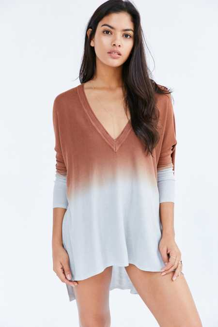 Pins And Needles Dip-Dye Tunic Top