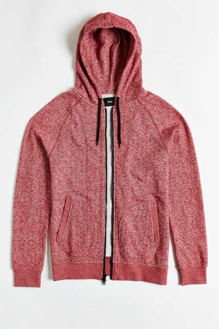 BDG Marled Zip Hooded Sweatshirt