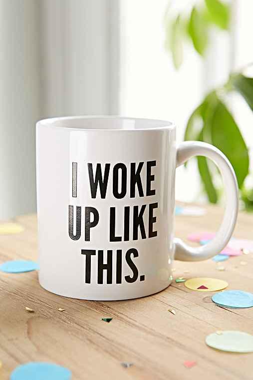 I Woke Up Like This Mug,BLACK & WHITE,ONE SIZE