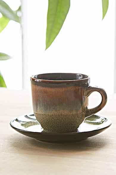 Reactive Stoneware Espresso Cup Set