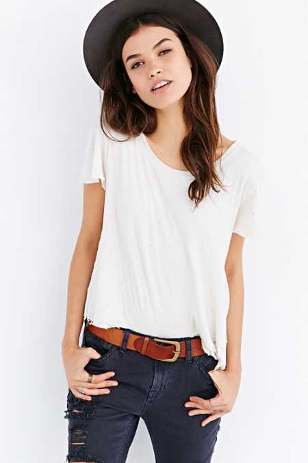 BDG Easy Buckle Leather Belt