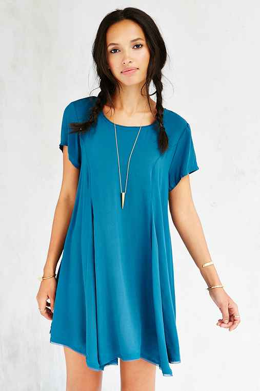 Silence + Noise Witchy T-Shirt Dress,TEAL,M