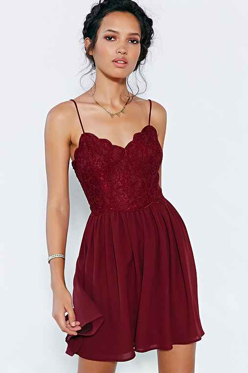 Kimchi Blue Spaghetti Strap Lace Dress - Urban Outfitters