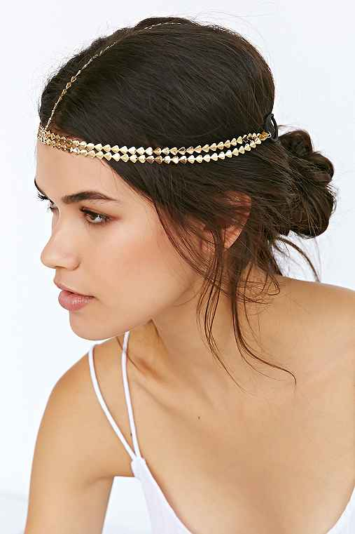 Golden Arrows Goddess Chain Headwrap