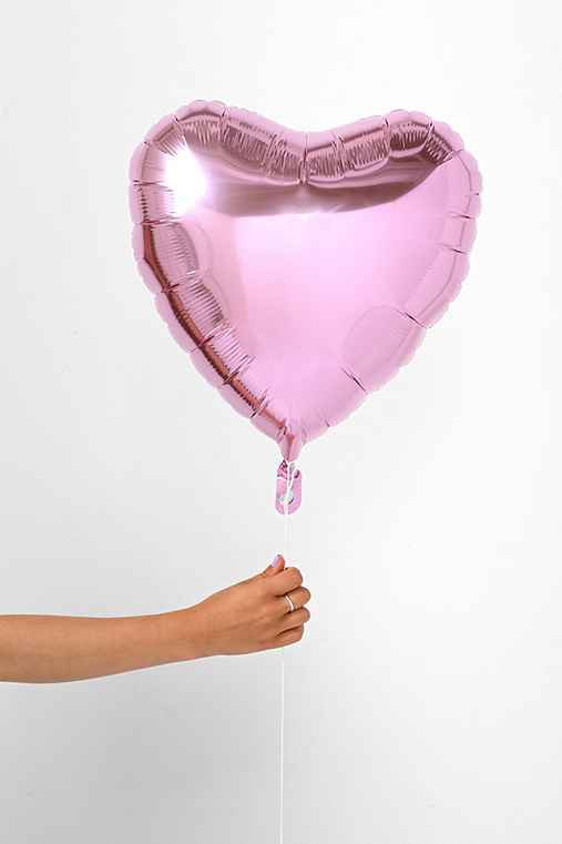 Foil Heart 18 Inch Party Balloon,ROSE,ONE SIZE